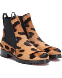 Christian Louboutin - Marchacroche Calf Hair Ankle Boots - Lyst