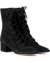 Gianvito Rossi - Delia Suede Ankle Boots - Lyst