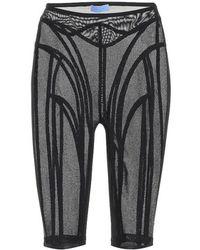 Mugler - Shorts in mesh - Lyst