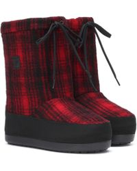 Woolrich - Checked Arctic Snow Boot - Lyst