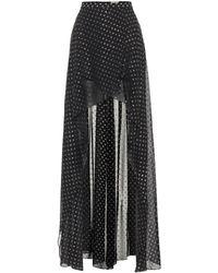 Elie Saab - Jupe longue asymétrique à fil coupé - Lyst