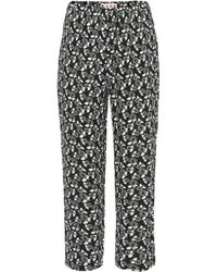 Marni - Printed Cropped Trousers - Lyst
