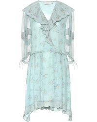 COACH - Floral Silk Georgette Dress - Lyst