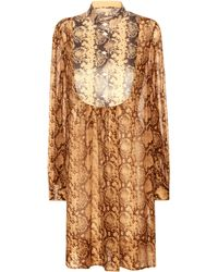 Michael Kors - Printed Silk Dress - Lyst