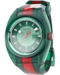 0a101847f7c Gucci Sync Unisex Swiss Blue And Red Rubber Strap Watch 36mm ...
