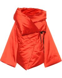 Isa Arfen - Satin Wrap Jacket - Lyst