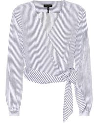 Rag & Bone - Prescot Cotton And Linen Blouse - Lyst