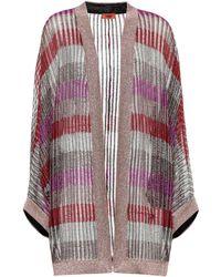 Missoni   Striped Lamé Cardigan   Lyst
