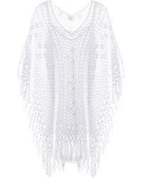 Anna Kosturova Gehäkeltes Kleid Tassel aus Baumwolle