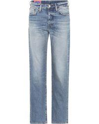 Acne Studios - Blå Konst High-Rise Slim Jeans 1997 - Lyst