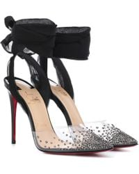 7068d55bee6 Lyst - Christian Louboutin Pre-owned Patent Leather Heels in Red