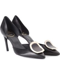 Roger Vivier - Dorsay Sexy Choc Leather Pumps - Lyst