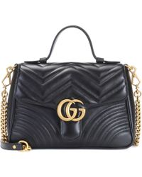 Gucci - GG Marmont Small Leather Shoulder Bag - Lyst