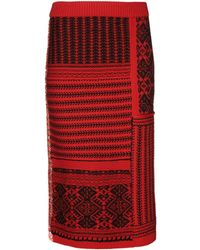 Burberry | Wool And Cashmere Skirt | Lyst
