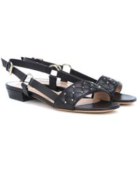 Valentino - Rockstud Spike Leather Sneakers - Lyst