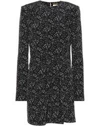 Saint Laurent - Floral-printed Silk Minidress - Lyst