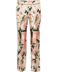 F.R.S For Restless Sleepers - Ceo Floral Silk Pyjama Trousers - Lyst