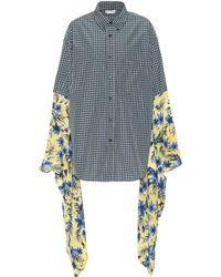 Balenciaga - Plaid And Floral Shirt - Lyst