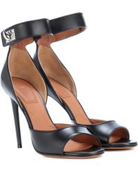 Givenchy - Shark Leather Sandals - Lyst