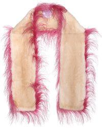 Prada - Ostrich And Mink Fur Scarf - Lyst