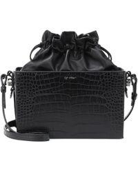 Off-White c/o Virgil Abloh - Embossed Leather Shoulder Bag - Lyst