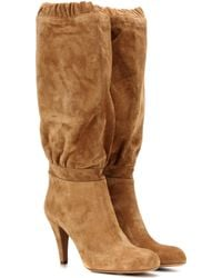 Chloé - Lena Suede Knee-high Boots - Lyst