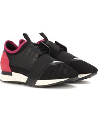 Balenciaga - Leather-trimmed Trainers - Lyst