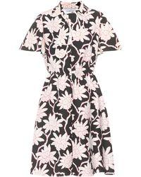 Valentino - Floral-printed Crêpe Dress - Lyst