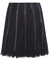 Alexander Wang - Embellished Cotton-blend Skirt - Lyst