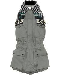 Miu Miu - Embellished Cotton-blend Playsuit - Lyst