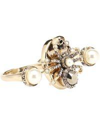 Alexander McQueen - Crystal-embellished Ring - Lyst