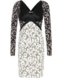 Roberto Cavalli - Printed Long-sleeved Dress - Lyst
