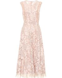 f0f216c84f4b RED Valentino - Lace Midi Dress - Lyst