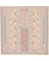 Etro - Floral Silk Scarf - Lyst