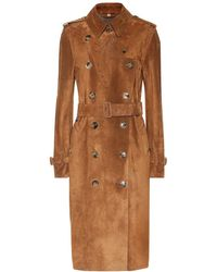 Burberry - Trench in suede - Lyst