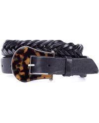 Golden Goose Deluxe Brand - Tube Braided Leather Belt - Lyst