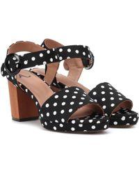 eb83170ebf1b Lyst - Dolce   Gabbana Polka Wedge Sandals