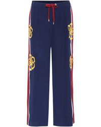 RED Valentino - Embellished Silk Trousers - Lyst