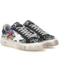 Golden Goose Deluxe Brand - May Classic Sequinned Sneakers - Lyst