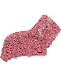 Anna Kosturova | Filigree Crocheted Cotton Crop Top | Lyst