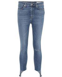 Rag & Bone - Jeans Nina a vita alta - Lyst