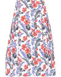 Carolina Herrera - Party Printed Cotton Skirt - Lyst