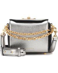 Alexander McQueen - Box 16 Metallic Leather Shoulder Bag - Lyst