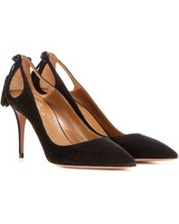 Aquazzura - Forever Marilyn 85 Suede Pumps - Lyst