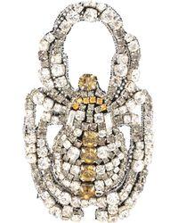Rochas - Crystal-embellished Brooch - Lyst