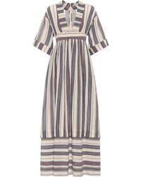 Three Graces London - Ferrers Striped Cotton Dress - Lyst