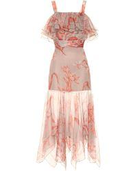 Johanna Ortiz - Hula Dance Silk Organza Dress - Lyst