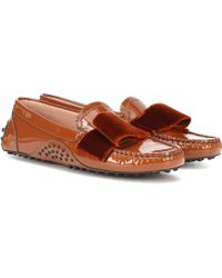 c777af13aa8 Tod s - X Alessandro Dell acqua Patent Leather Loafers - Lyst