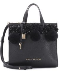 Marc Jacobs - Beads & Pom Poms Little Big Shot Leather Tote - Lyst