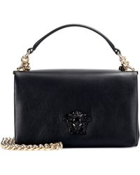 Versace - Palazzo Leather Shoulder Bag - Lyst
